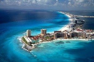 cancun-beach-aerial-view